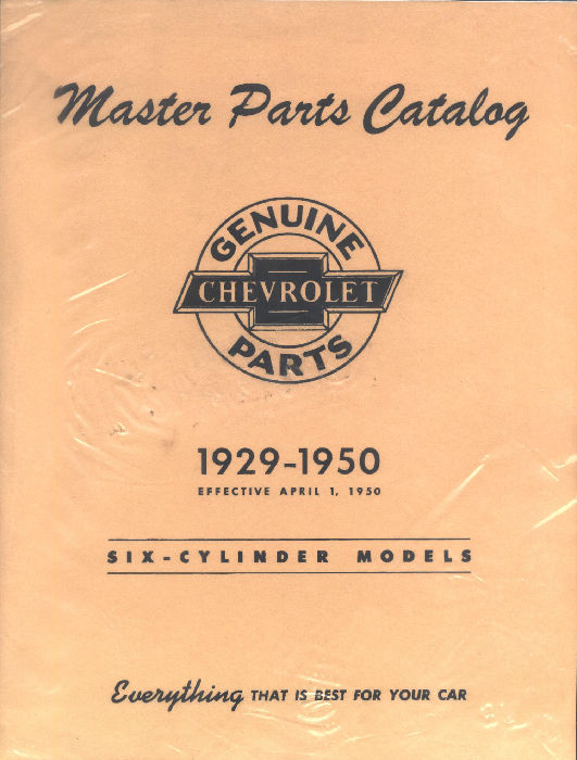 Chevy Parts 187 Printed Material 187 Parts Book Chevs Of The 40s