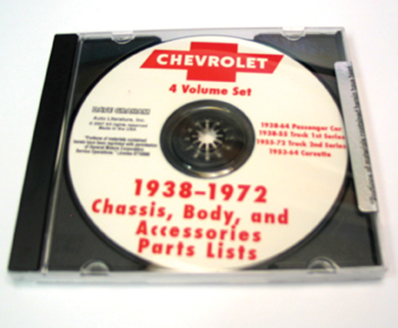 Chevy Parts 187 Chevrolet Parts Book On Cd 38 64 Cars 38