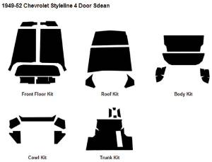 Body Sound Deadener 1949-52 Styleline 4-Door Sedan AcoustiShield Kit Photo Main