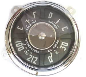 Gauge Cluster - New 6 Volt, 6-Cylinder, 0-30 Lbs. Oil, 100-212 Temp, Chevrolet Photo Main