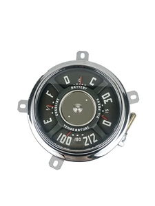 Gauge Cluster - New 12 Volt, 6-Cylinder. 0-30 Lbs. Oil, 100-212 Temp, Chevrolet Photo Main