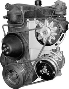 Air Conditioning Compressor & Alternator Mounting Bracket - 1954 & Earlier 216ci & 235ci Chevy 6-Cylinder Photo Main