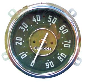 Gauge - Speedometer 0-90 Mph - Complete With Backing, Lens, And Bezel Photo Main