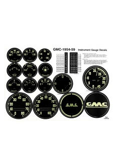 Decal Set - Instrument Set With Speedo & Odometer Photo Main