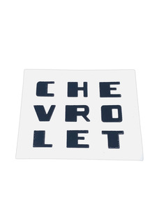 "Decal - ""Chevrolet"" Radio Grille (Black Lettering) Photo Main"