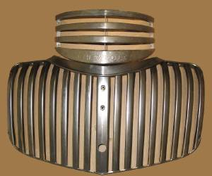 Grille -Upper & Lower, Plain Steel With Script Photo Main