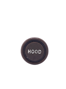 "Knob - ""Hood"" Letter (Brown) Photo Main"