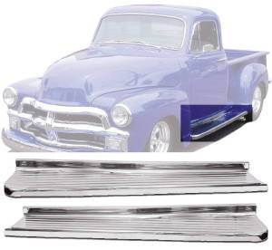 Running Boards - Chromed Steel, Ribbed (1/2ton) Photo Main