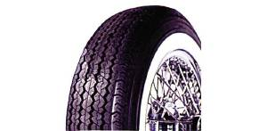 "Tire (670x15). Coker Classic, Radial, 2-3/8"" White Wall Photo Main"