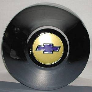 Hub Cap -Gold Center W/ Blue Bowtie, Set of 4 Photo Main