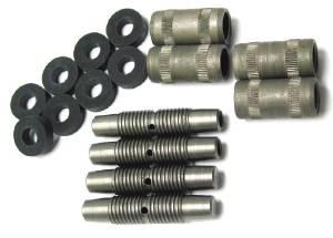 Shackle Rebuild Kit -4 Pins, 4 Bushings, 8 Seals -Front or Rear Photo Main