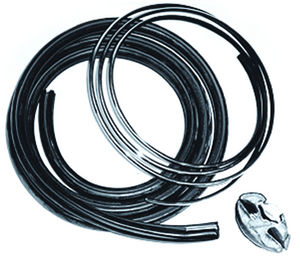 Glass Rubber Back With Chrome Lock Strip Photo Main