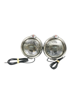 "Driving Lights (12v, 5"") Clear With Brackets Photo Main"