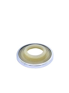 Escutcheon -Ivory With Chrome Ring Photo Main