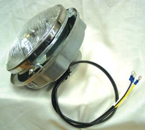 Headlight Bucket Assembly. Complete With Pigtail, Retainer & 12 Volt Bulb Photo Main