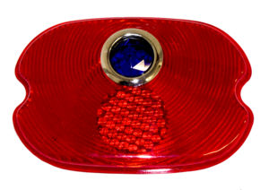 Plastic-Tail Light Lens With Blue Dot (Panel & Suburban) Photo Main