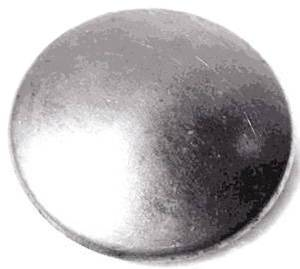Cap (Metal) On Rubber Horn Button Photo Main