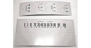 Decal Set - Instrument Gauge (Late 39, Cream & Dark Brown) Photo Main