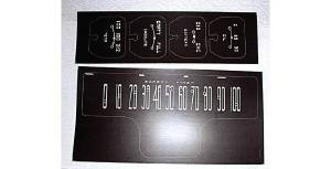 Decal Set - Instrument Gauge (Early 39, Brown With Green Markings) Photo Main