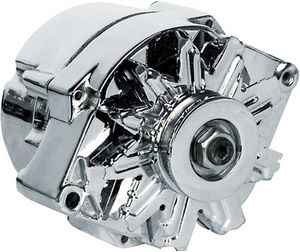 "Alternator - 12v,Chrome Internally Regulated 1-Wire With 3/8 ""Pulley Photo Main"