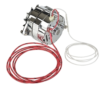 "Alternator - 12v,Chrome Internally Regulated 1-Wire With 5/8"" Pulley Photo Main"