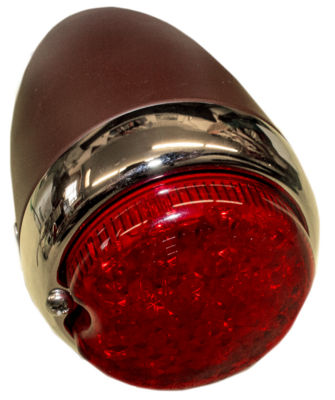 "Tail Light Led Assembly Left (3"" Round) Primered Housing. Red 12 Volt Photo Main"