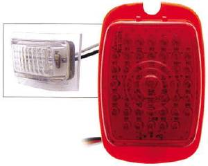 Tail Light Lens, LED (Red Lens) Left Side With License Light 12 Volt Photo Main