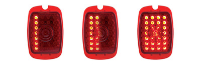 Tail Light Lens, LED -(Red Lens) Sequential Right Side 12 Volt Photo Main