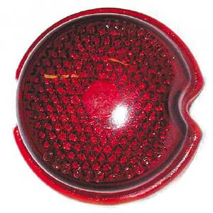 "Tail Light Lens (3"" Round Glass), Red Photo Main"