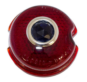 "Lens - Tail Light. 3"" Glass With Blue Dot Photo Main"