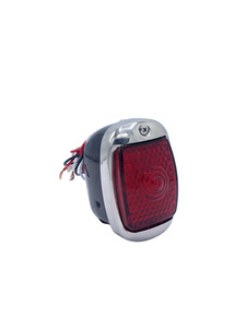 Led Tail Light Assembly. Left Side With Led License Light And Black Housing 12 Volt Photo Main