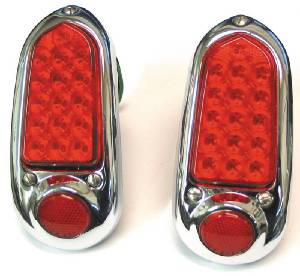 Tail Light Assembly - Chrome, Led. All (Except Sedan Delivery And Wagon) 12 Volt Photo Main