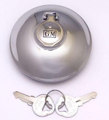 Gas Cap- Locking- GM Script Inside Flange 38-52 All 53-54 Wagon & Sedan Delivery 38-57 Truck Photo Main