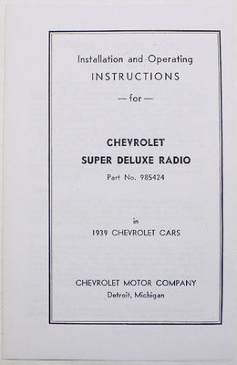 Radio Manual - 7 Tube Twin Speaker Photo Main