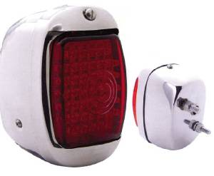 Led Tail Light Assembly - Right Side, Chrome Housing 12 Volt Photo Main