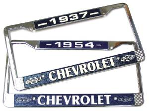 License Plate Frame - Year On Top (Except 42 & 46) Photo Main