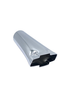 Exhaust Extension. Bowtie Shape, Stainless Steel Photo Main