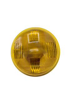 "Light, Fog -Amber Sealed Beam Lamp #4012A 6v 6"" Screw Terminals Photo Main"