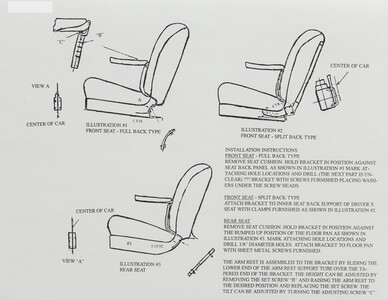 Armrest Installation Sheet - Center Fold Down Photo Main