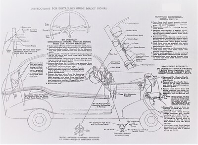 Turn Signal Installation Sheet - (Original 1940) Photo Main