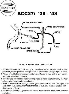 Emergency Brake Whistle - Instruction Sheet Photo Main