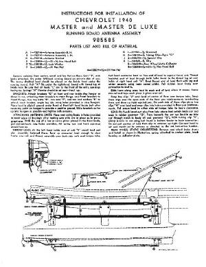 Installation Sheet - Antenna Under Running Board (Original For 40) Photo Main
