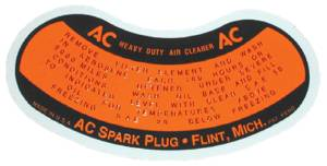 Decal- Air Cleaner, Oil Bath Photo Main