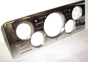 Dash Panel 40 Chevy Car - Billet Aluminum, Polished - 5 Hole Combo 1med-4sml Photo Main