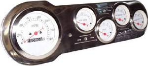 "Dash Panel 53-54 Chevy Car - Billet Aluminum, Polished 3-3/8"" Speedo Photo Main"