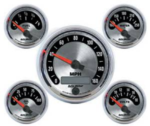 Instrument Gauges - Auto Meter American Muscle Series, 3-3/8, 5 Gauge Set (Electronic Speedo) Photo Main