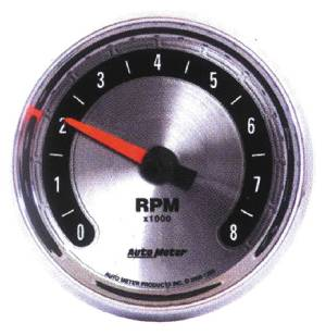 "Instrument Gauges - Auto Meter American Muscle Series, 3-3/8"" 8,000 Rpm Tach Photo Main"