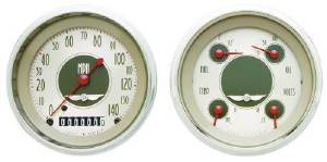 "Instrument Gauges - (2 Gauge Set) - All American Nickel Series, 3-3/8"" 12v Photo Main"