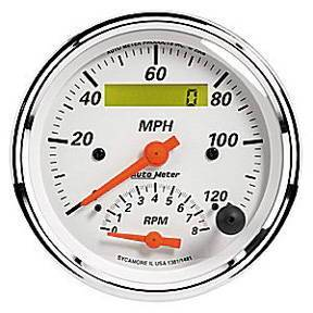 "Instrument Gauges - Auto Meter Arctic White Series, 3-3/8"" Speedo Tach Combo Photo Main"