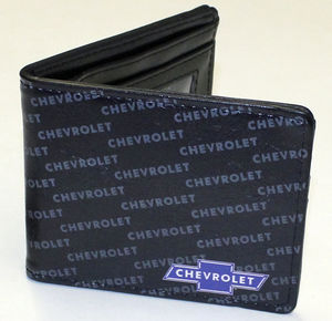 "Wallet Bi-Fold With ""Chevy"" Bowtie Emblem 3-1/2"" X 4-1/4"" Man-Made Materials Photo Main"